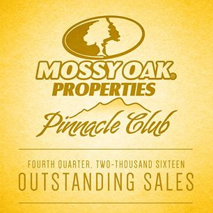 Mossy Oak Properties Pinnacle Club for Outstanding Sales